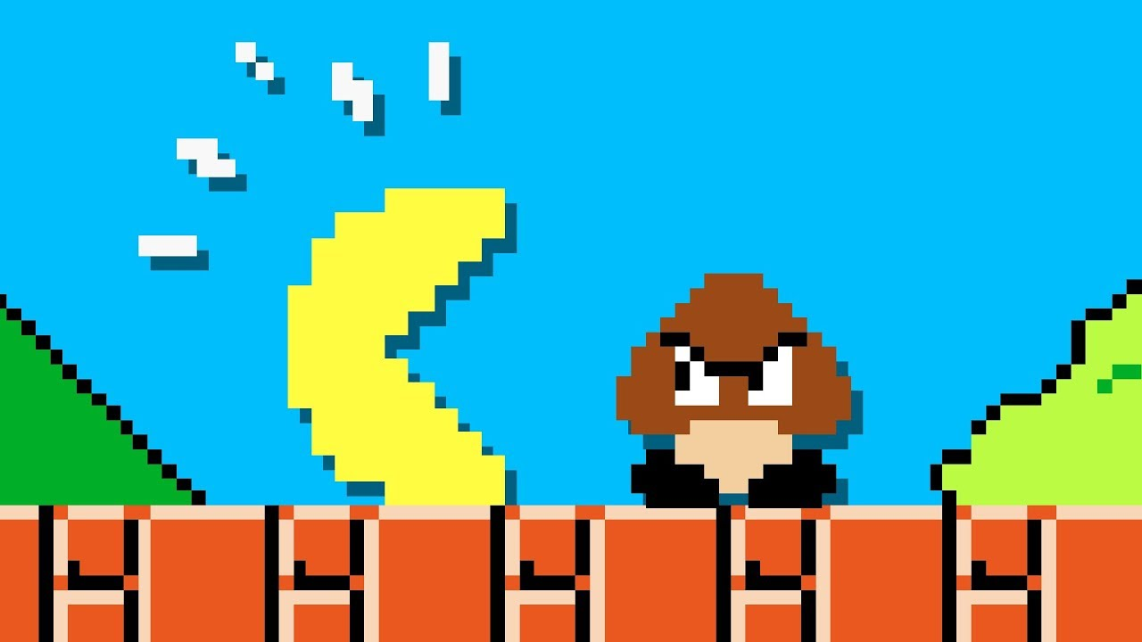 One Way Pacman could EASILY complete Mario Level 1-1