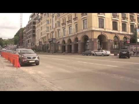 Кортеж Президента Украины Виктора Януковича - The motorcade of President Ukraine Viktor Yanukovych