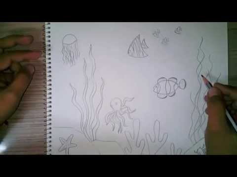 How to draw an underwater scene for kids