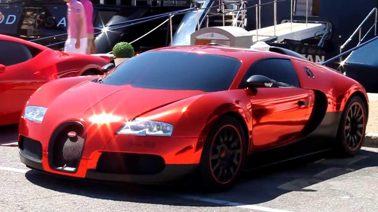 loud chrome arab bugatti veyron start-up - youtube