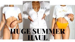 THE BIGGEST SUMMER HAUL EVER! MISSGUIDED, TOPSHOP, ASOS, MESHKI & MORE | SARAHJOHOLDER