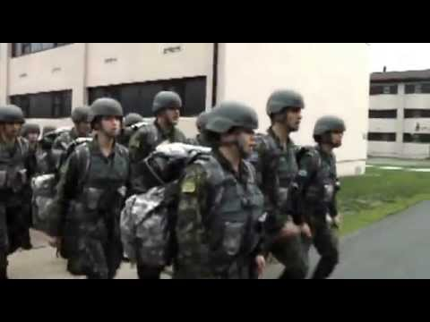 U.S. National Guard Training Albanian Soldiers