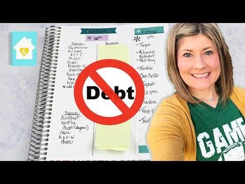 2018 BUDGET PLANNER | PAYING OFF DEBT | ERIN CONDREN DELUXE MONTHLY PLANNER