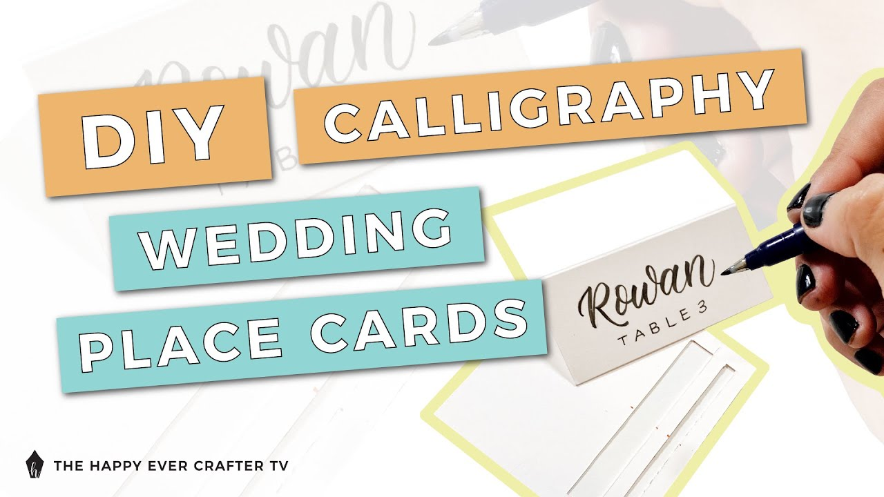 DIY Calligraphy Wedding Place Cards - The Happy Ever Crafter