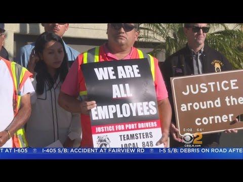 LA, Long Beach Port Workers Go On Strike