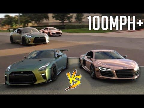 INTENSE DRAG RACE vs TANNER BRAUNGARDT'S AUDI R8!