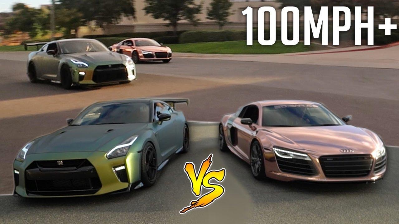 INTENSE DRAG RACE vs TANNER BRAUNGARDT'S AUDI R8! - YouTube