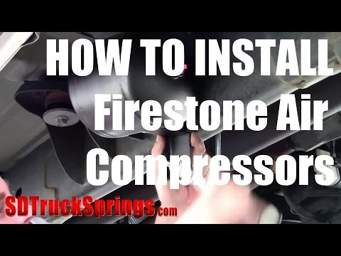 how to install firestone air compressors on board air compressor Firestone Ride-Rite Installation at Firestone Ride Rite Wiring Diagram