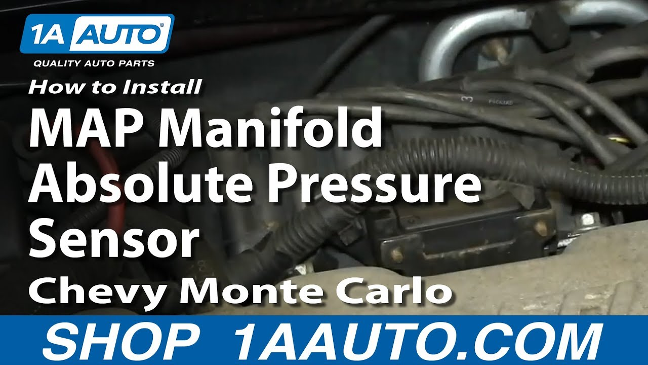 how to install replace map manifold absolute pressure sensor 3 4l chevy monte carlo [ 1280 x 720 Pixel ]