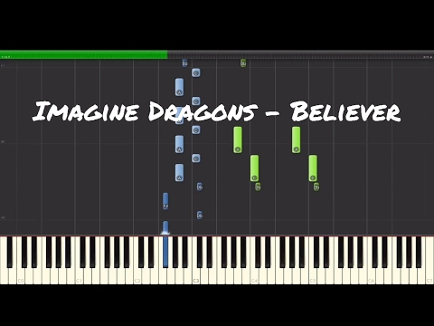 Imagine Dragons - Believer Piano Tutorial