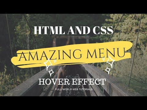 CSS Amazing menu Hover Effect | HTML And CSS Tutorial thumbnail