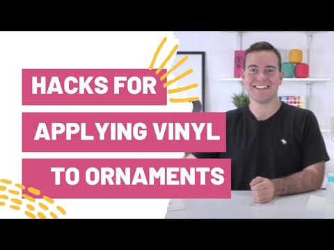 Must See Hacks For Applying Vinyl To Christmas Ornaments