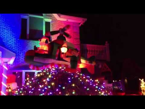 NYC Queens Bayside/Whitestone Best Christmas Houses of Lights and Display 2013