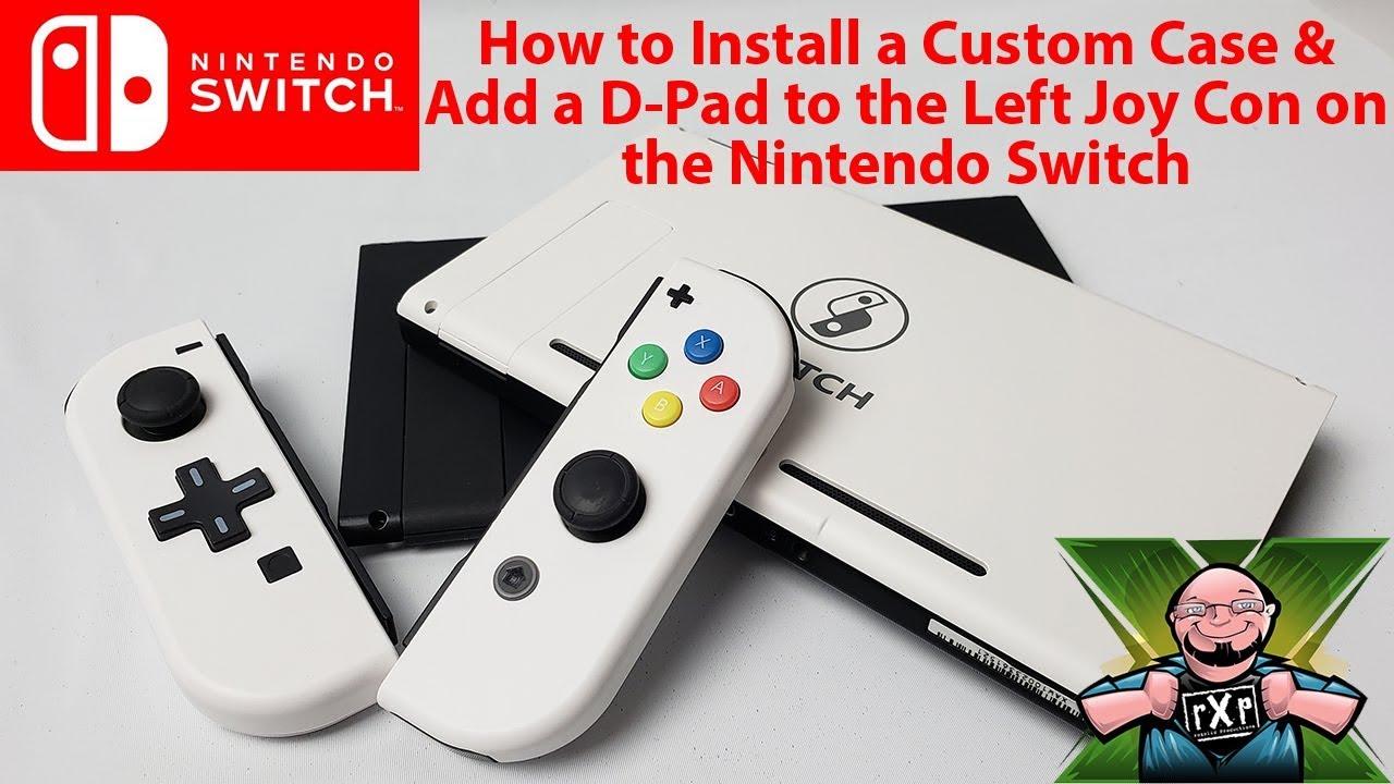 How To Install The Basstop Custom Case D Pad On Nintendo Switch Joycon Left Right Grey Joy Cons