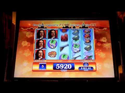 St Petersburg 4 screen hit slot machine bonus win at Parx.