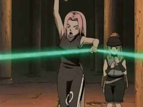 Naruto and Sakura vs. Fuuma Clan Jonin (Kabuto Look-A-Like)