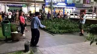 SAIGON STREET PERFORMANCE SCENES, PART 1. HO CHI MINH CITY, VIETNAM 2019