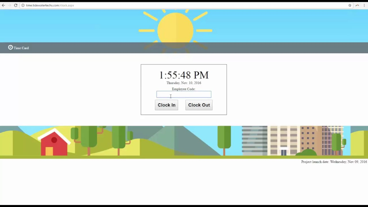 employee time card clock in clock out - Time Card Clock