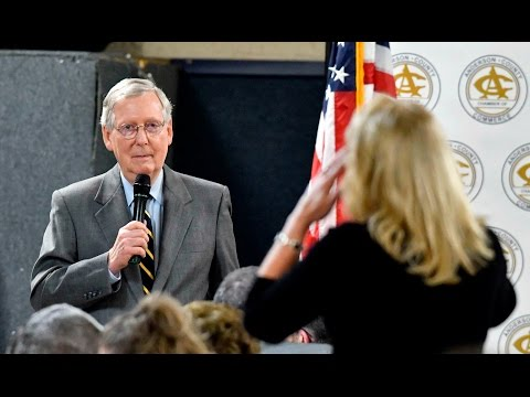 Mitch McConnell confronted by constituent at town hall