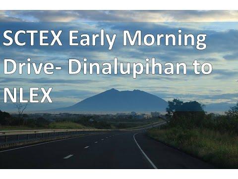 SCTEX Early Morning Drive: Dinalupihan to NLEX