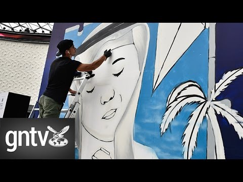 3D street art transforms City Walk into open air gallery