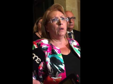 President Marie Louise Coleiro Preca in her initial reactions after tragic Paqpaqli crash