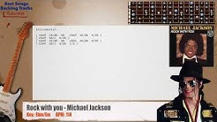 Rock with you - Michael Jackson Guitar Backing Track with chords and lyrics