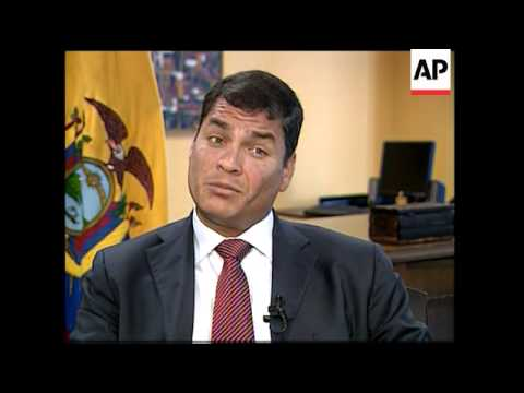 Interview with Ecuadorean President Rafael Correa