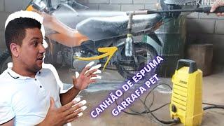 (Melhoria) Como Fazer JATO DE SABÃO lavar carro com garrafa pet