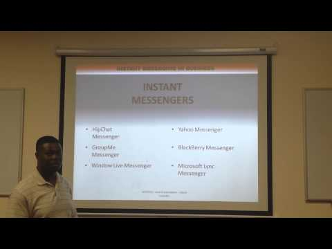 Use of Instant Messaging in Workplace