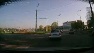 Показательный проезд кольца от ГИБДД. г.Саранск