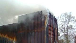 Fire training flashover trailer 004