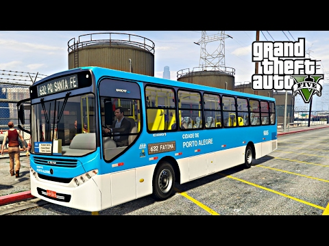 GTA V: BusVlog - Ônibus De Porto Alegre Linha 632 - Fátima / Zona Norte #10