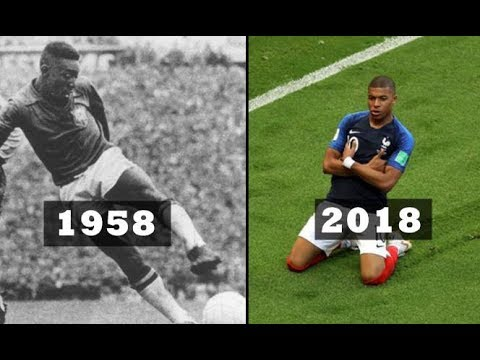 Pelé and Mbappé ● World Cup Final Goals as Teenager!