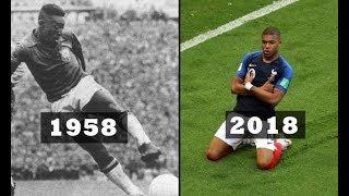 Pelé and Mbappé ● World Cup Final Goals as Teenager!