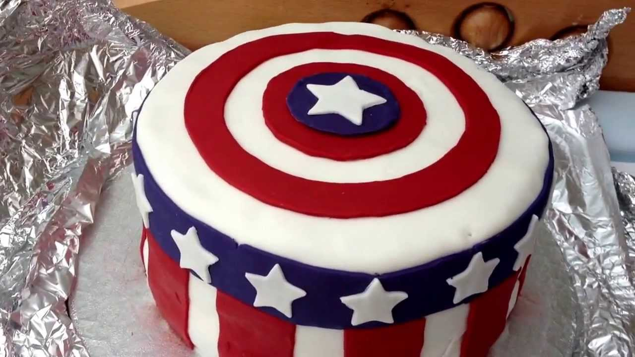 How to make a fondant captain america birthday cake the avengers