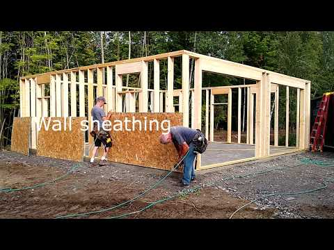 Building a Gambrel garage stage 1