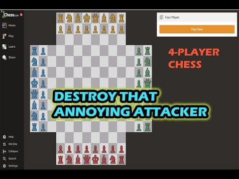 4-Player Chess Tactics: Destroy Neighbor Attacking You
