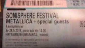Metallica ja Slayer liput hommattu! Sonisphere Festival 2014