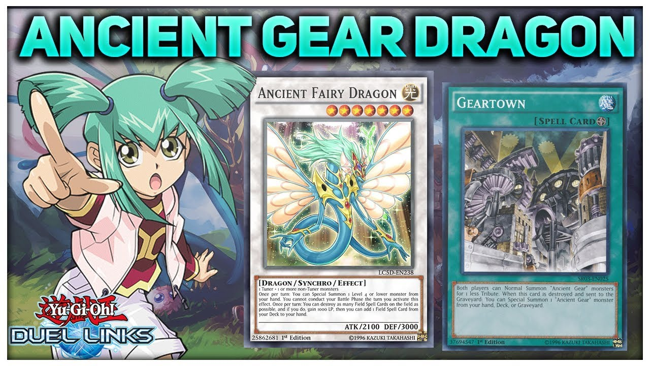 [Yu-Gi-Oh! Duel Links] Ancient Gear ft  Ancient Fairy Dragon | Ancient Gear  Deck