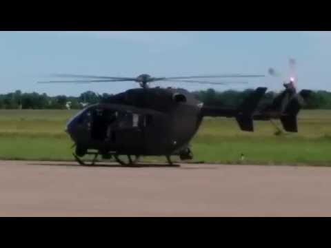 Eurocopter UH-72 Lakota Take off at Cape Girardeau Airport