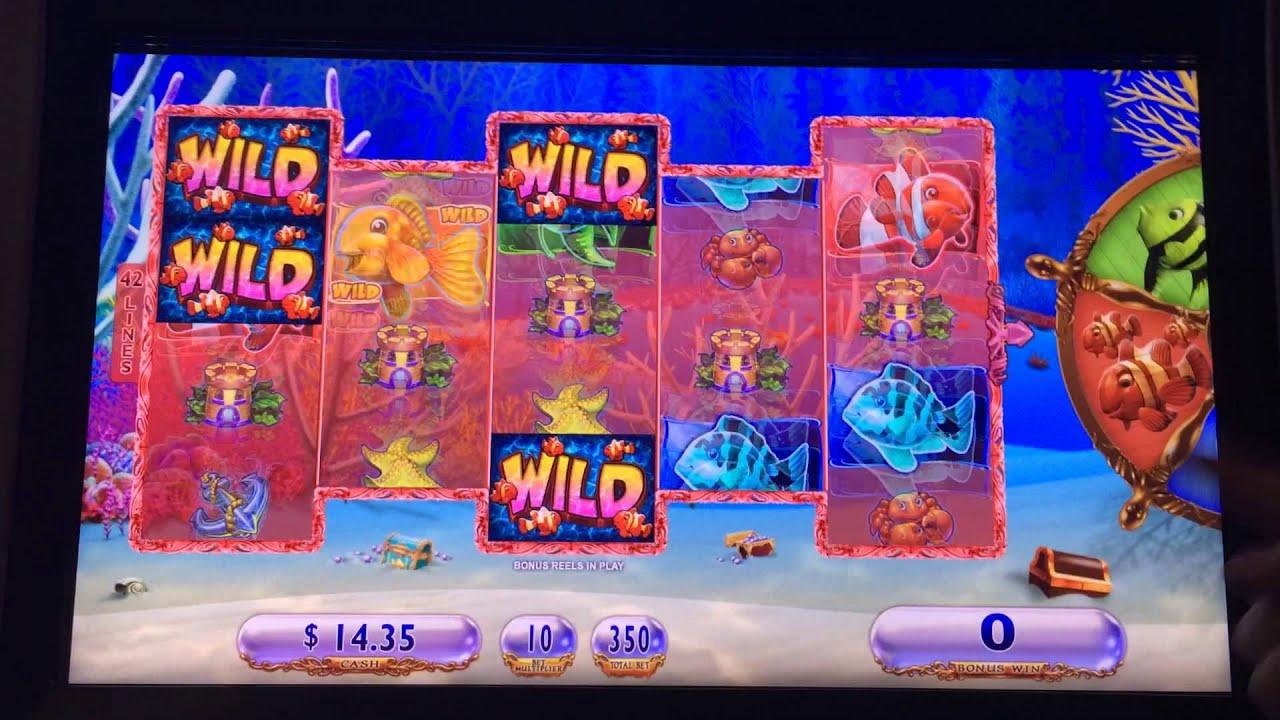 Goldfish 3 slot machine bonus red fish youtube for Fish slot machine