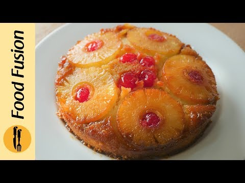 Pineapple Upside-down Cake Recipe By Food Fusion (Eid Special)
