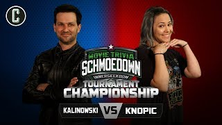 Innergeekdom Tournament FINALS! Mike Kalinowski VS Mara Knopic - Movie Trivia Schmoedown