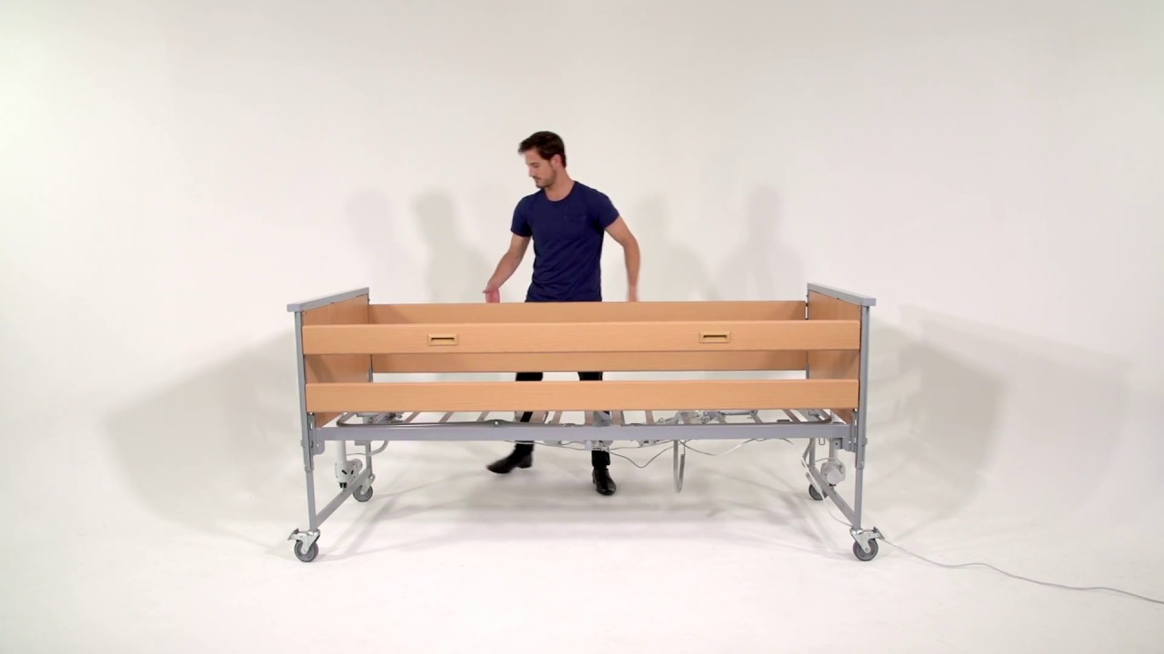 how to assemble the invacare medley ergo bed - youtube