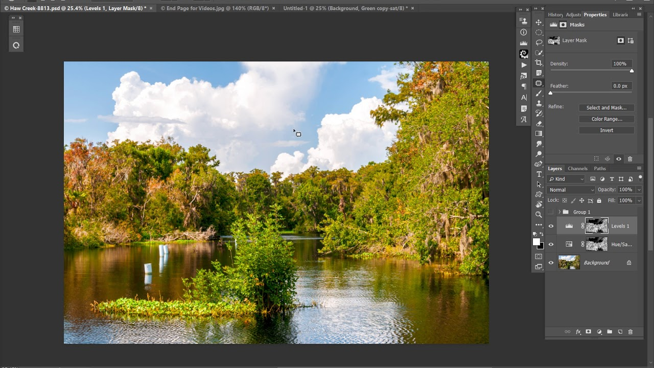 How to Use Adobe's HSL/HSB Filter to Create a Saturation Mask
