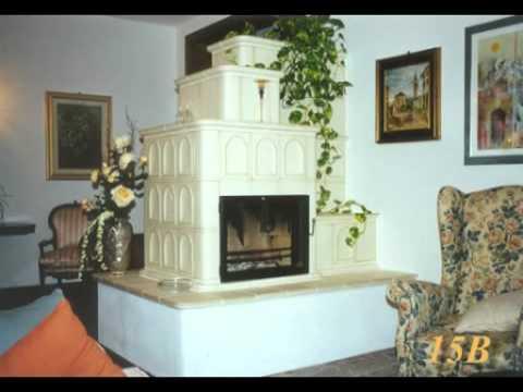 Vetrina di stufe e caminetti in maiolica ad irraggiamento termico