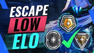 The ULTIMATE Guide T๐ ESCAPING Low Elo (Gold/Silver/Bronze/Iron) - Valorant