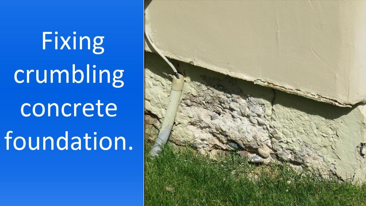 How To Repair Crumbling Concrete Near Foundation Youtube