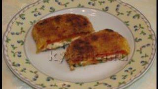Шницель из болгарского перца с сыром